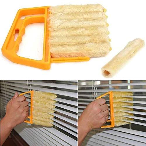 10 Piece Weatherstrip (Brush Window - Microfibre Venetian Blind Brush Window Air Conditioner Duster Dirt Clean Cleaner - Crystals Fuller Weather Strip)
