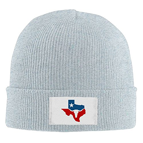 Adult Texas Longhorn Flag Winter Acrylic Knit Beanie Hat Skull Cap