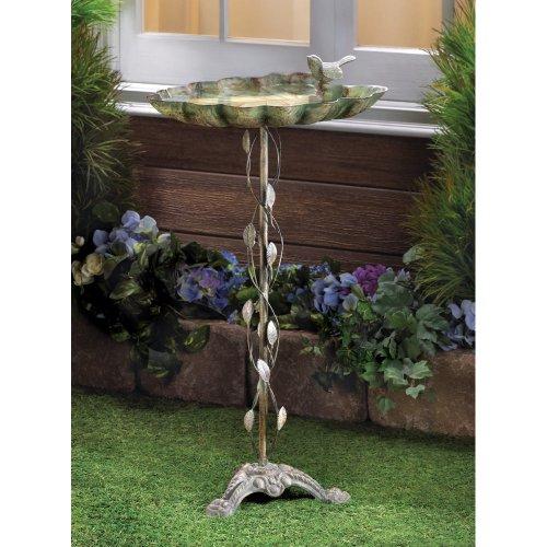 Leaf Birdbath - Beautiful Crafted Cast Iron Verdigris Leaf Birdbath Patio Garden Decor Yard Art! ♥ Top Selling Item