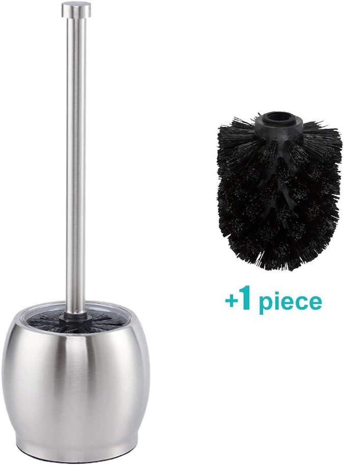 WENKO Toilettenbürste Basic Schwarz Toilettenbürstenhalter Toilette Klobürste