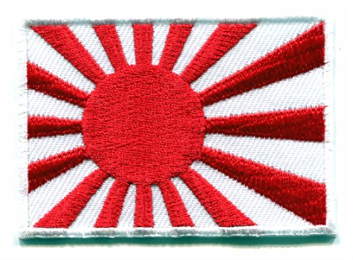 Flag of Japan Japanese ensign Nippon applique iron-on patch size - Japanese Flag Ensign