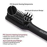 Hair Straightener Brush Ceramic Heating LCD Digital Hair Straightening Brush heating component