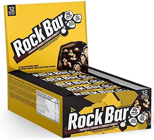 Dedicated Nutrition Rock Bar - 12x 65g (Chocolate, Caramel & Crunchy Peanuts)
