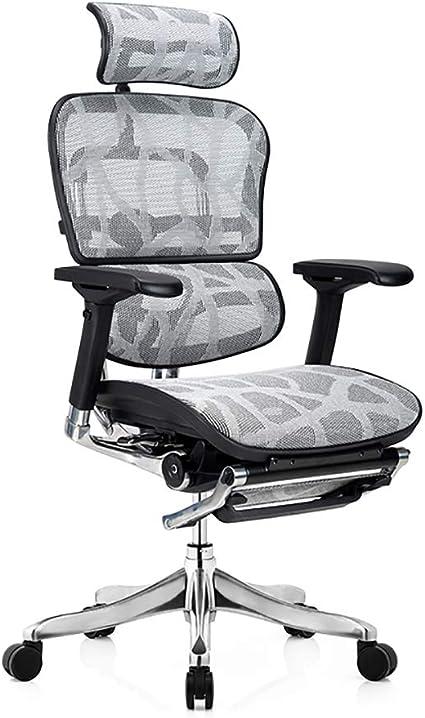 Girisr Office Swivel Chair Adjustable Armrest Office Chair With Headrest And Pedal Supporting Lunch Break Office Chair Amazon De Kuche Haushalt