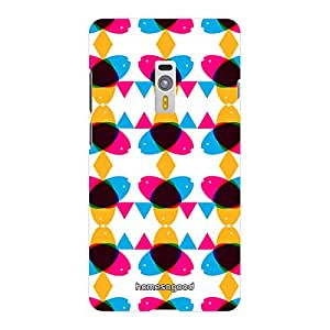 HomeSoGood Colorful Superimposing Colors Multicolor 3D Mobile Case For OnePlus 2 (Back Cover)