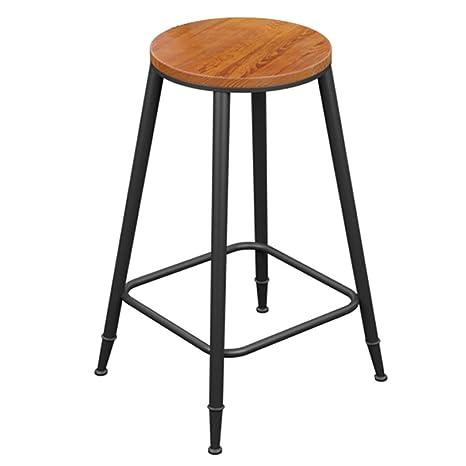 Amazon.com: LoveLifes Tall Chairs Solid Wood Metal Bar ...