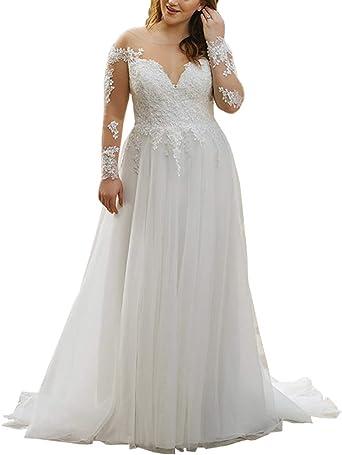 Wedding Dresses Elegant Applique Chiffon Beading Plus Size Beach Bridal Gowns
