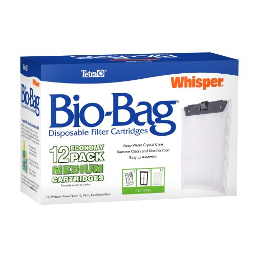 - Tetra 26160 Whisper Bio-Bag Cartridge, Unassembled, Medium, 12-Pack