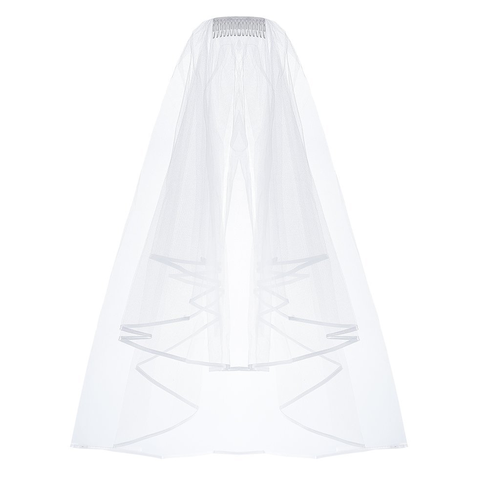 Amazoncom Pretty See Wedding Veil Holy Tulle Veil Bridal Wedding