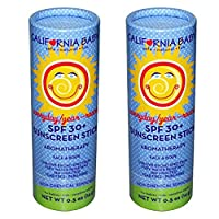 California Baby Broad Spectrum SPF 30 Plus Sunscreen Stick - 0.5 oz (2 pack)