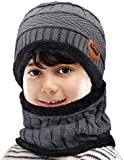 Maylisacc 2 Pcs Winter Beanie Hats and Scarf Set