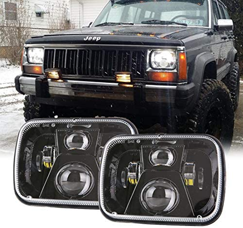 New Osram Chips 110W 5x7 Inch Led Headlights 7x6 Led Sealed Beam Headlamp with High Low Beam H6054 6054 Led Headlight Replacement for Jeep YJ Cherokee XJ H5054 H6054LL 6052 6053 2 Pcs