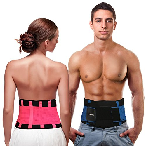 Back Support for Men & Women, Back Brace Back Support Belt with Adjustable Straps Providing Back Pain Relief and Lumbar Support - by PLYO-TEC®