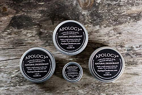 APOLOGY NATURAL DEODORANT (3-pack) | Natural, Safe, and Effective Deodorant | Aluminum Free, Paraben Free, Phthalate Free, Synthetic Dye & Fragrance Free, Cruelty Free, and Plastic Free Packaging