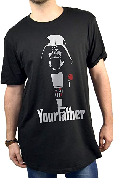 SUPERMOLON Camiseta Negra Unisex Yourfather Básica XXL Negra: Amazon.es: Ropa y accesorios