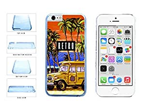 Funny Retro Trip Clear Plastic Phone Case Back Cover Apple iphone 5 5sInches)