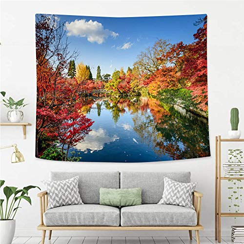 BEIVIVI Wall Tapestry Wall Hanging Fall Foliage in Kyoto Japan Tapestry, Living Room Bedroom Decoration Tapestry, Mattress, Tablecloth