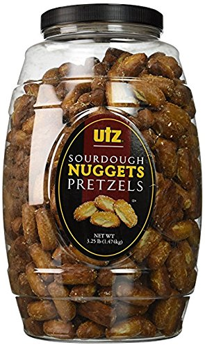 Utz Sourdough Nuggets Pretzels Barrel, 52 Ounce (Pack of ()