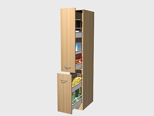 Apothekerschrank für küche  Apothekerschrank Küche 30 cm Buche - Namu: Amazon.de: Küche & Haushalt