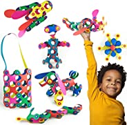 Clixo Rainbow 42 Piece Pack- The Flexible, Durable, Imagination-Boosting Magnetic Building Toy- Modern, Modula