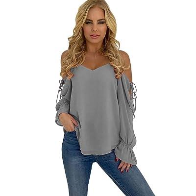 Aburnudrey Mujer Camisetas Tops Blusas Casual Suave: Ropa y accesorios