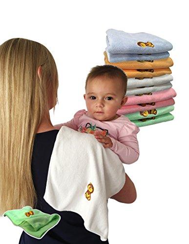 Baby Travel Burp Cloth Microfiber 300gsm - Burping Rags - Baby Towels Bonus