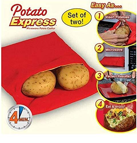 openspaceshop - Bolsa para Patatas al Horno, microondas, Patatas Express Velocici, cocción rápida
