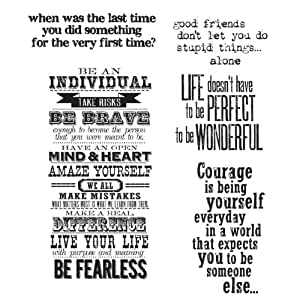 Stampers Anonymous Tim Holtz Cling Rubber Stamp Set, 7 by 8.5-Inch, Way with Words