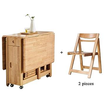 Moderno Tavolo da Pranzo Pieghevole telescopico Set di Tavolo e ...