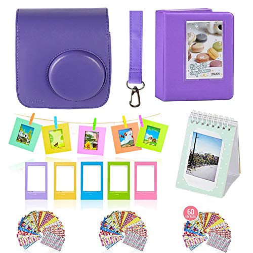 Polaroid Accessories. Polaroid Camera PIC-300 Instant Film Bundle, 9 PC Kit Includes: Polaroid Case + Strap + Photo Album + Standing Album + Wall Hanging Frames + 60 Stickers + 5 Frames, Gift Set.