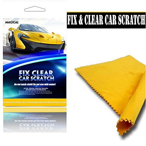 MAGICAL Fix Clear Car Scratch Repair Cloth Polish for Light Paint Scratches Remover Scuffs on Surface Repair for all colors (1 - Black Plastic Scratch Remover
