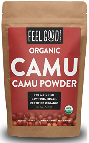 Organic Camu Camu Powder - 7oz Resealable Bag - 100% Raw From Brazil - by Feel Good Organics (Amazon Pantry Yogurt)