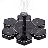 Solar Fountain, Solar Powered Bird Bath Fountain Pump 1.5W Solar Panel Kit Water