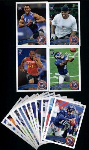 2011 Topps New York Giants Football Cards Team Set-16 cards-Eli - Football Cards 2011