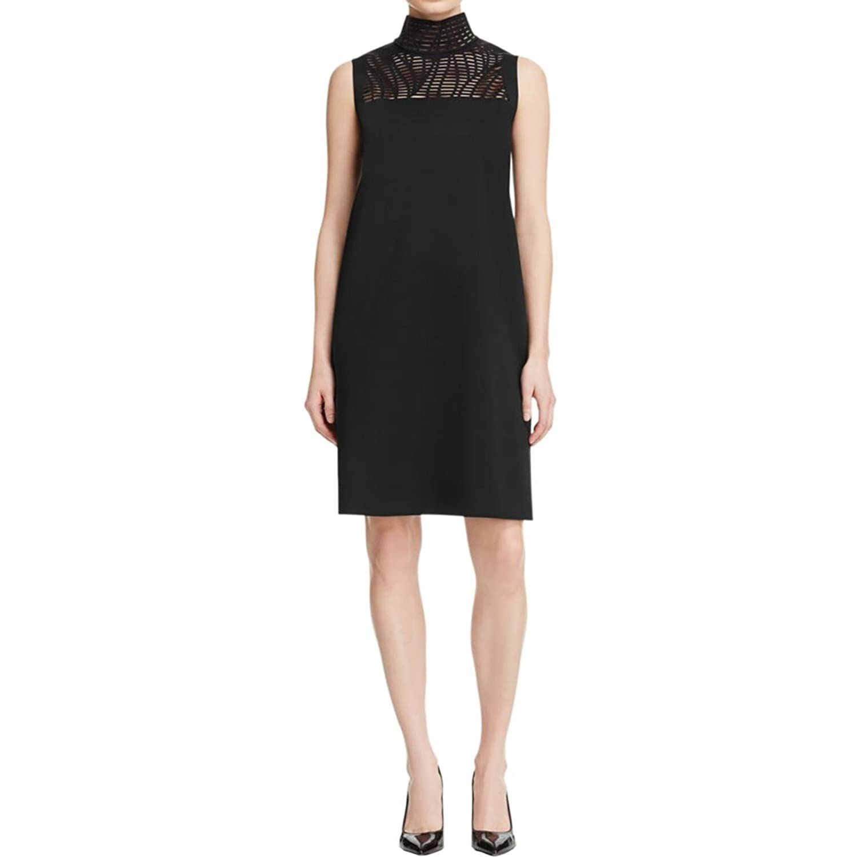 Black choker scuba dress
