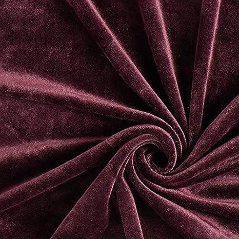 Fabulous Fabrics Velours Stretch Tissu Nicki Aubergine /— Vendu au m/ètre /à 0,5m /— pour Coudre Vestes Pantalons et Robes