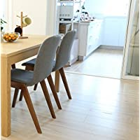 CO-Z 2 Set of Fabric Side Chairs Solid Wood Legged Mid Century Dining Room Chair (2 Sets)