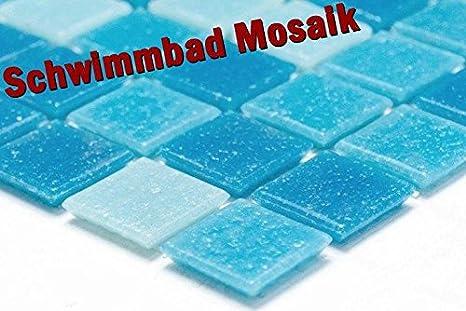 Rete mosaico piastrelle a mosaico quadrato mix azzurro blu