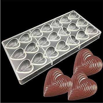 valink día de San Valentín chocolate moldes, patrón de flor en forma de corazón Chocolate