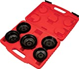 Lisle 54920 10-Piece Cap Style Oil Filter Wrench Set