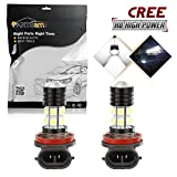 Partsam H8 H11 H16 64212 Xenon White Super Bright Bulbs for Fog Driving Light Lamps Bulbs Cree + Epistar 12 5050 SMD High Power Projector Led