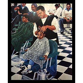 Amazon Com The Barber S Shop By Adam Perez 36 Quot X24 Quot Art