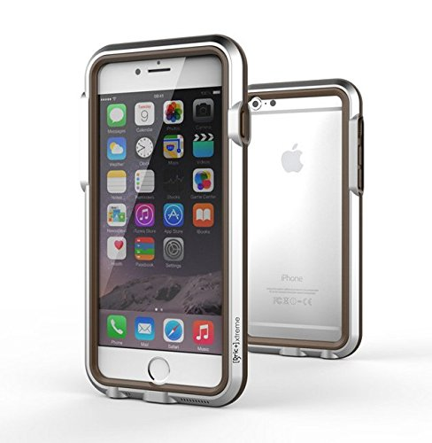 Resistant and Bulletproof, Aircraft-Grade Aluminum Case, Armor for iPhone 6 - Silver Brown (Case Silver Bullet)