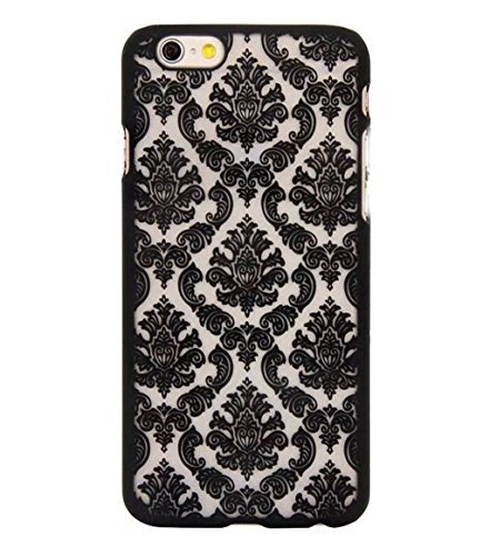 Iphone 6 Case,LUOLNH Carved Damask Vintage Pattern Matte Hard Case Cover For iPhone 6 4.7 inch (Not for iPhone 6 Plus) - Black