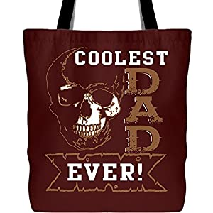 Coolest Dad Ever Tote Bags, I'm A Dad Canvas Tote Bags (Tote Bags - Maroon)