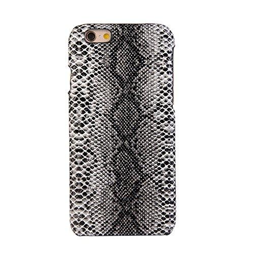 iPhone 6 / 6S 4.7 inch Coque, Moonmini® PU Cuir haut de gamme Snap-On Housse de protection pour Apple iPhone 6 / 6S 4.7 inch, Motif de peau de serpent