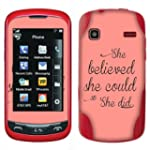 LG Xpression C395 Rumor Reflex S LN272 LN272S Xpression 2 C410 Vinyl Sticker Not a case Fincibo TM Accessories Skin Decal Cover She Believed She Could So She Did On Rose Gold