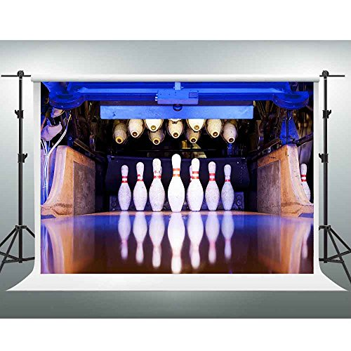 10x7ft Sport Backdrop Bowling Alley Photography Background Indoor Murals of the Gym Photo Studio Booth Shooting Props LXGE189