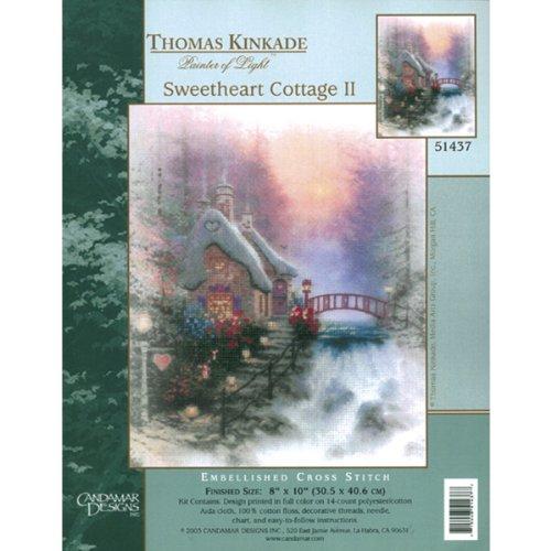 Textiles Thomas Kinkade Cottage Embellished