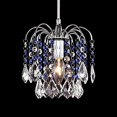 LivEditor Modern Chandelier Crystal Ligthing Pendant Lighting For HallWay Kitchen Kids Room (Y4060-WLM)